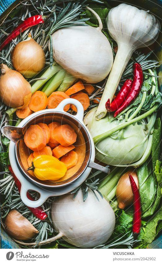 Seasonal regional vegetable ingredients Food Vegetable Lettuce Salad Nutrition Lunch Dinner Organic produce Vegetarian diet Diet Shopping Style Design Healthy