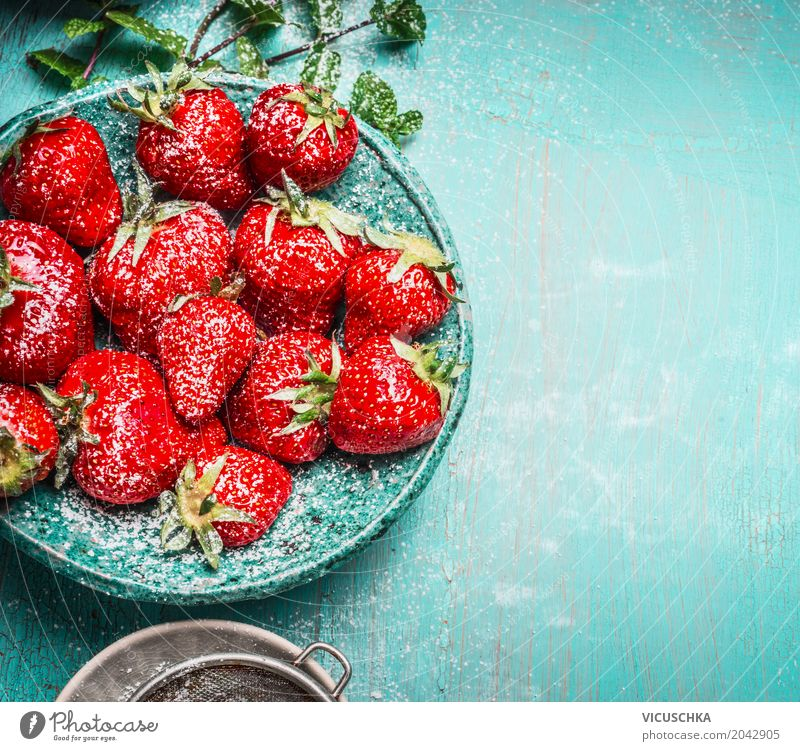 Dessert with strawberries Food Fruit Nutrition Organic produce Vegetarian diet Juice Bowl Style Design Healthy Healthy Eating Life Summer Background picture