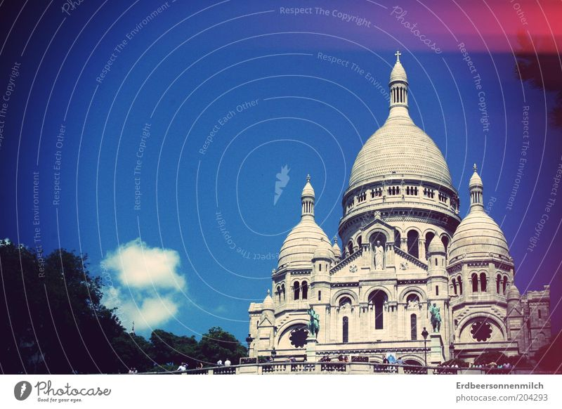 Sky Blue Vacation & Travel Far-off places Trip Church Target Culture Paris Beautiful weather Wanderlust Tourist Attraction City trip Sacré-Coeur