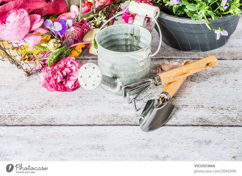 Nature Plant Summer Flower Style Garden Design Leisure and hobbies Table Equipment Gardening Gloves Watering can Gardening equipment
