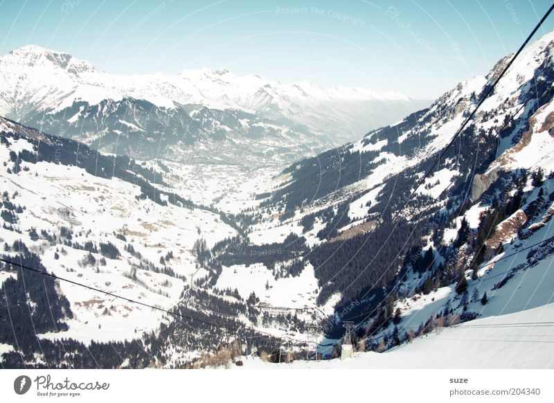 Switzerland Vacation & Travel Tourism Freedom Winter vacation Environment Nature Landscape Elements Sky Cloudless sky Horizon Climate Beautiful weather Ice