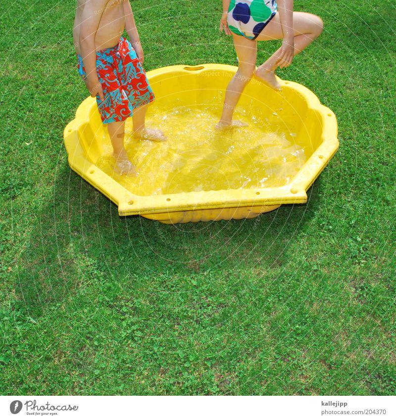 Child Water Girl Vacation & Travel Summer Joy Yellow Playing Boy (child) Garden Warmth Legs Feet Infancy Leisure and hobbies Skin