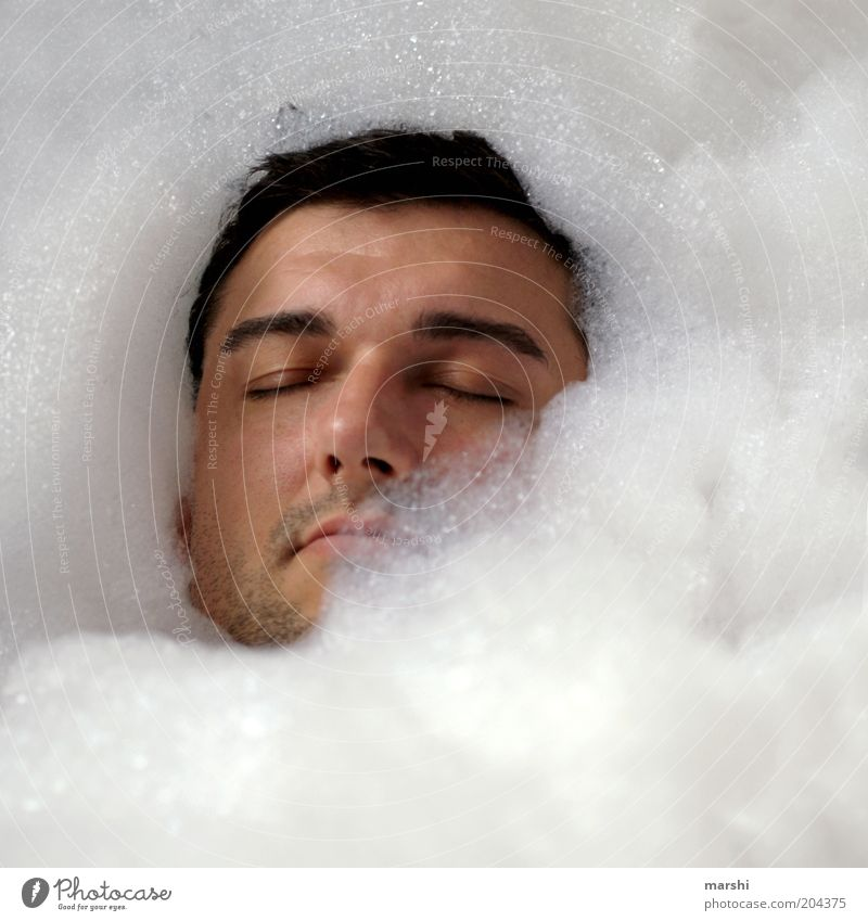 Human being Man Youth (Young adults) Beautiful White Face Relaxation Head Moody Healthy Adults Masculine Wellness Leisure and hobbies Swimming & Bathing