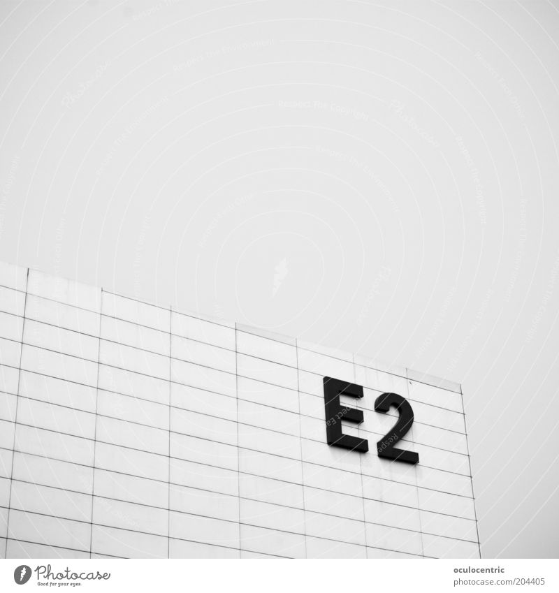 e² Architecture Old Sky Line Rectangle Simple Hall Gray Black & white photo Exterior shot Deserted Copy Space top Day Light Sunlight Exhibition hall Grid