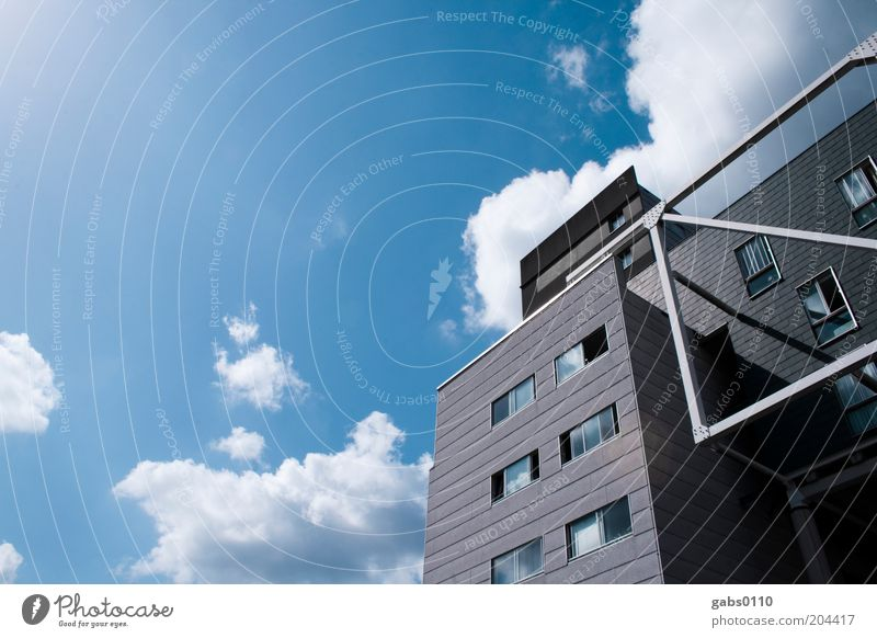 Sky House (Residential Structure) Clouds Wall (building) Window Wall (barrier) Building Architecture Weather Design High-rise Modern Climate Manmade structures