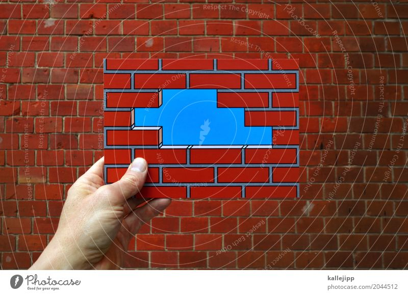 Human being Hand Life Wall (building) Berlin Wall (barrier) Art Freedom Facade Work and employment Fear Success Fingers Curiosity Hope