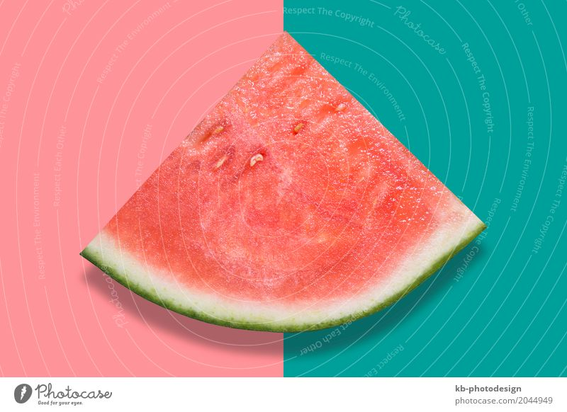 Watermelon on colorful background Food Fruit Water melon Summer Eating watermelon piece fresh healthy eat top view Top quarter abstract Background picture