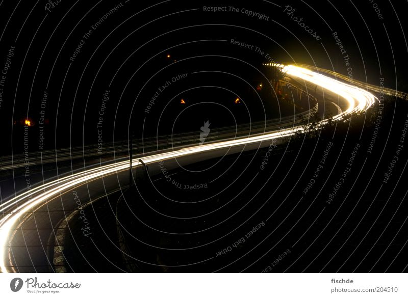 cornering light Motorsports Sporting event Motoring Street Highway Vehicle Design Creativity Curve Nürburgring Abstract Copy Space top Copy Space bottom Night