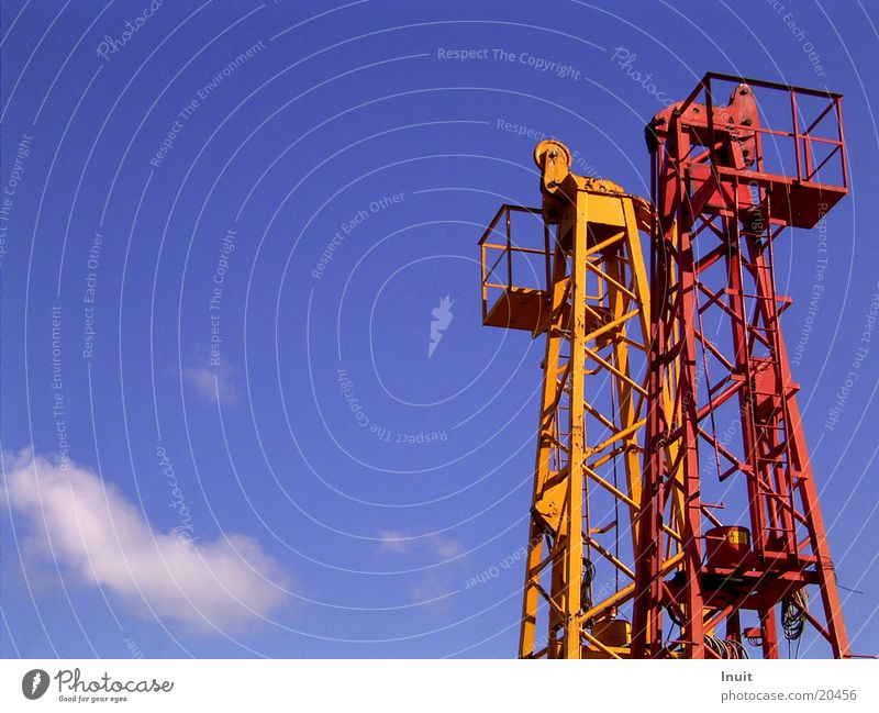 Sky Blue Red Clouds Orange Technology Tower Electrical equipment