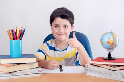 Smiling boy studying Human being Child Lifestyle Boy (child) Happy School Infancy Success Creativity Study Write Education Toddler Kindergarten Optimism