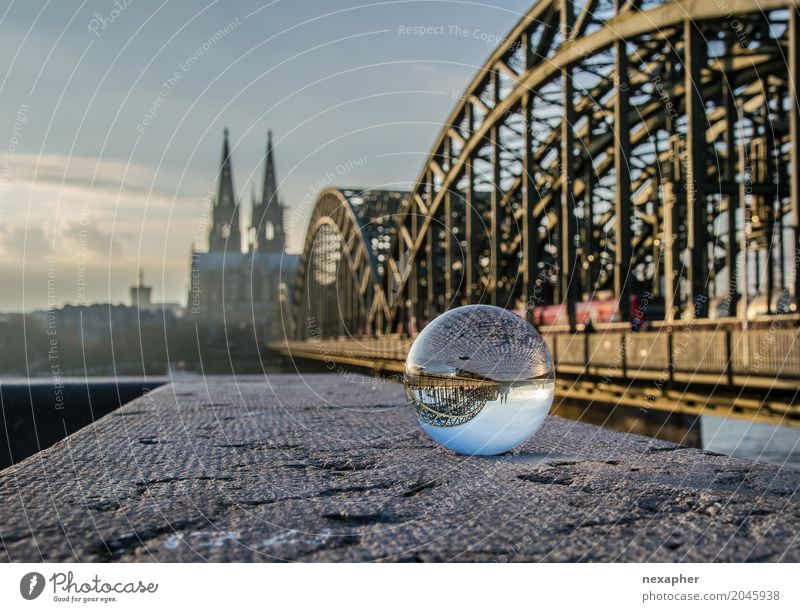 Cologne Cathedral with glass bowl and bridge Vacation & Travel Tourism Trip Sightseeing City trip Architecture Culture Spring Summer Town Downtown Old town