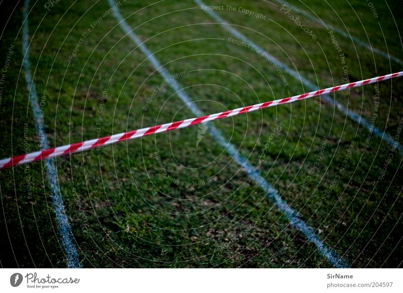 130 [Crime scene: racetrack] Sports Track and Field Sporting Complex Racecourse Grass Sporting grounds Barrier Disappointment Fear of the future Frustration End