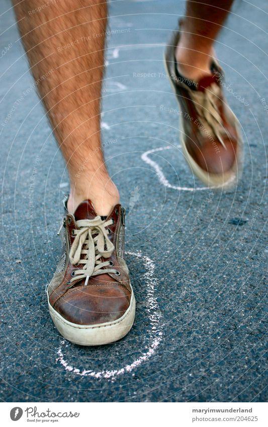 Man Black Street Legs Feet Brown Going Footwear Hair Masculine Walking Success Free Tracks Firm Strong