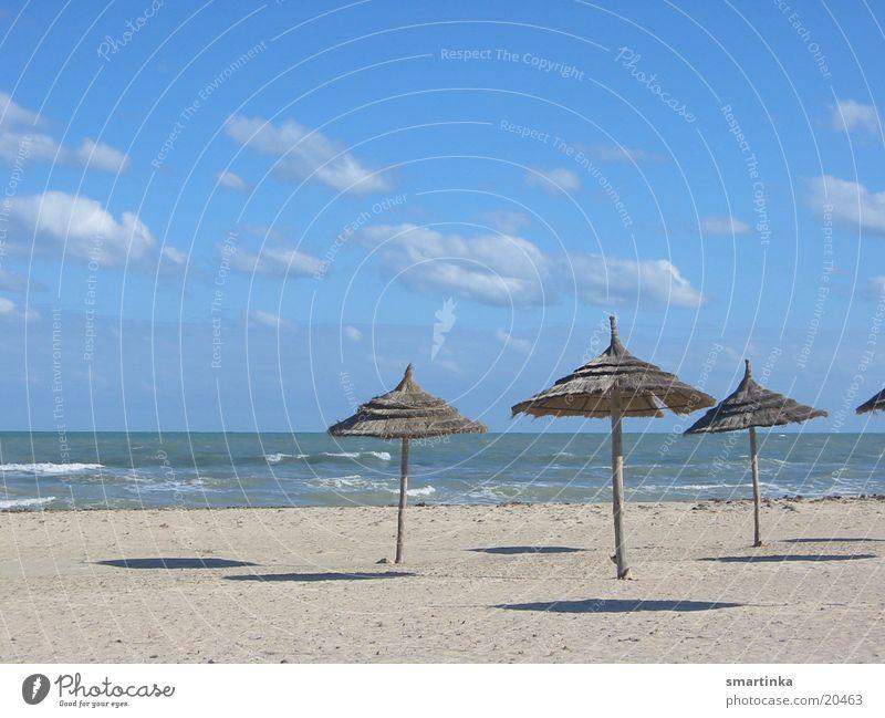 Ocean Blue Summer Beach Loneliness Sand Room Empty Sunshade Hover