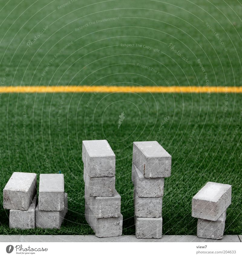 Green Stone Line Wait Simple Lie Grass surface Stripe Build Paving stone Stagnating Football pitch Sharp-edged Preparation Green space Sporting Complex