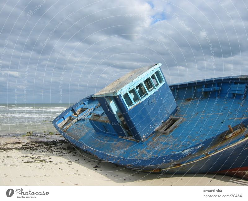 aground Watercraft Beach Ocean Stranded Loneliness Forget Obscure Wreck gutted Blue All we own is time.