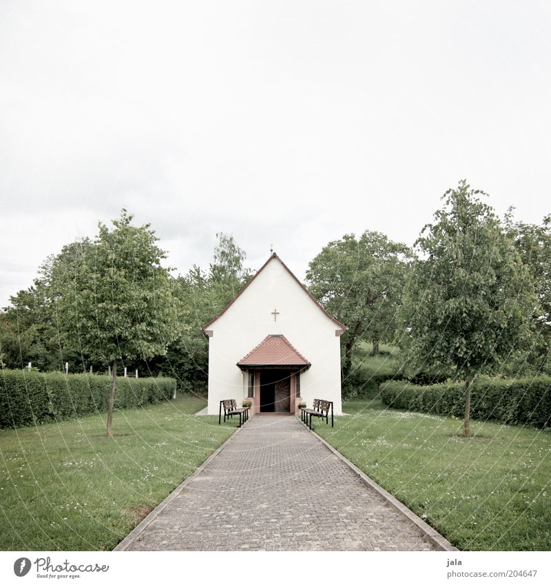 prayer house Sky Tree Grass Bushes Meadow Church Manmade structures Building Architecture Lanes & trails Gray Green Small Prayer Religion and faith
