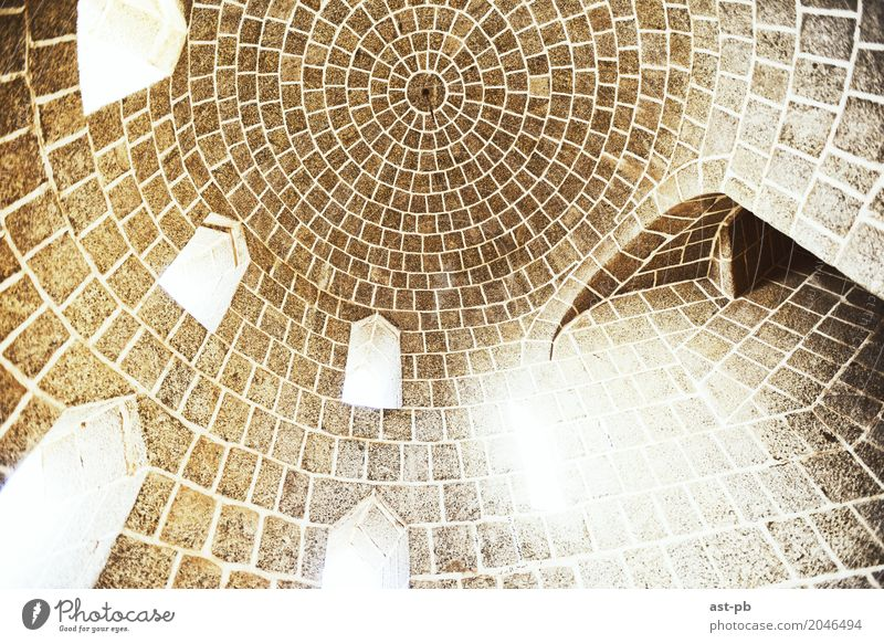 Dome Inside out Architecture Perfect loopholes light from outside Colour photo Deserted