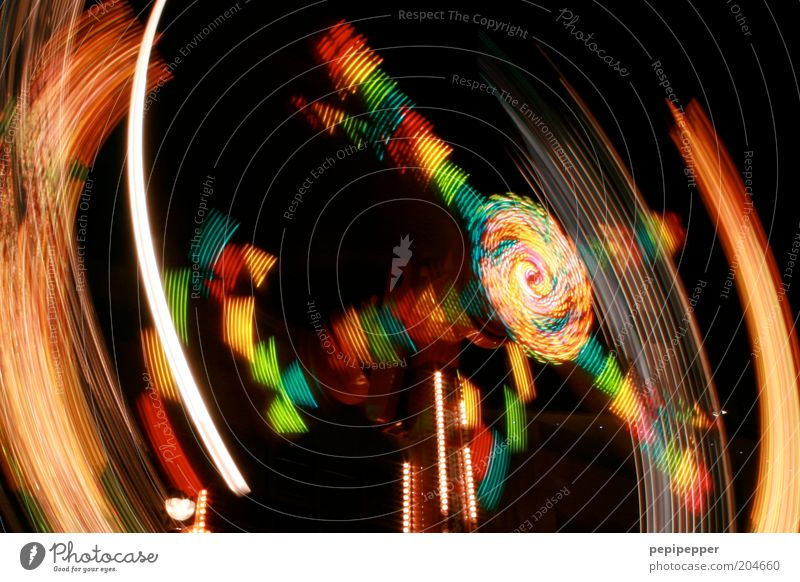 Feasts & Celebrations Speed Rotate Fairs & Carnivals Event Rotate Carousel Night life Night shot Things Multicoloured Strip of light Event lighting