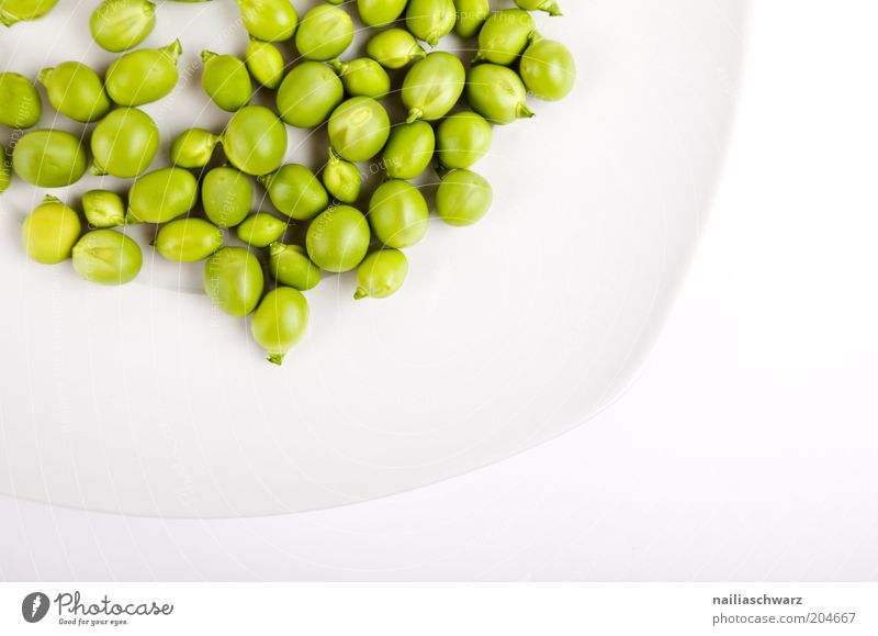 White Green Nutrition Food Esthetic Vegetable Plate Vegetarian diet Peas