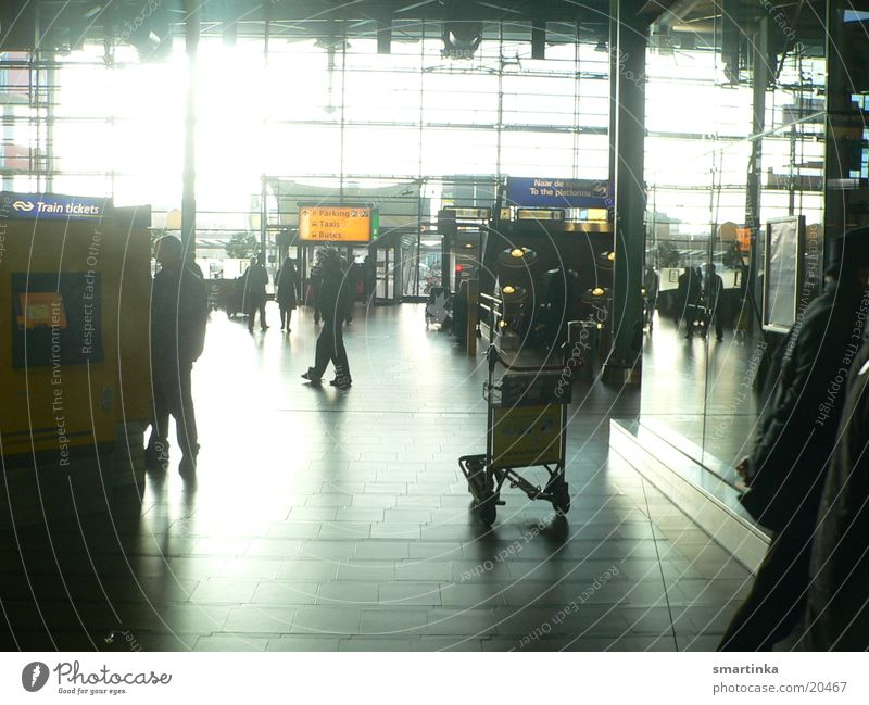 Schiphol Airport Morning Light Stress Narrow Intermediate station Architecture Tourist Human being foreign people I want to go Haste