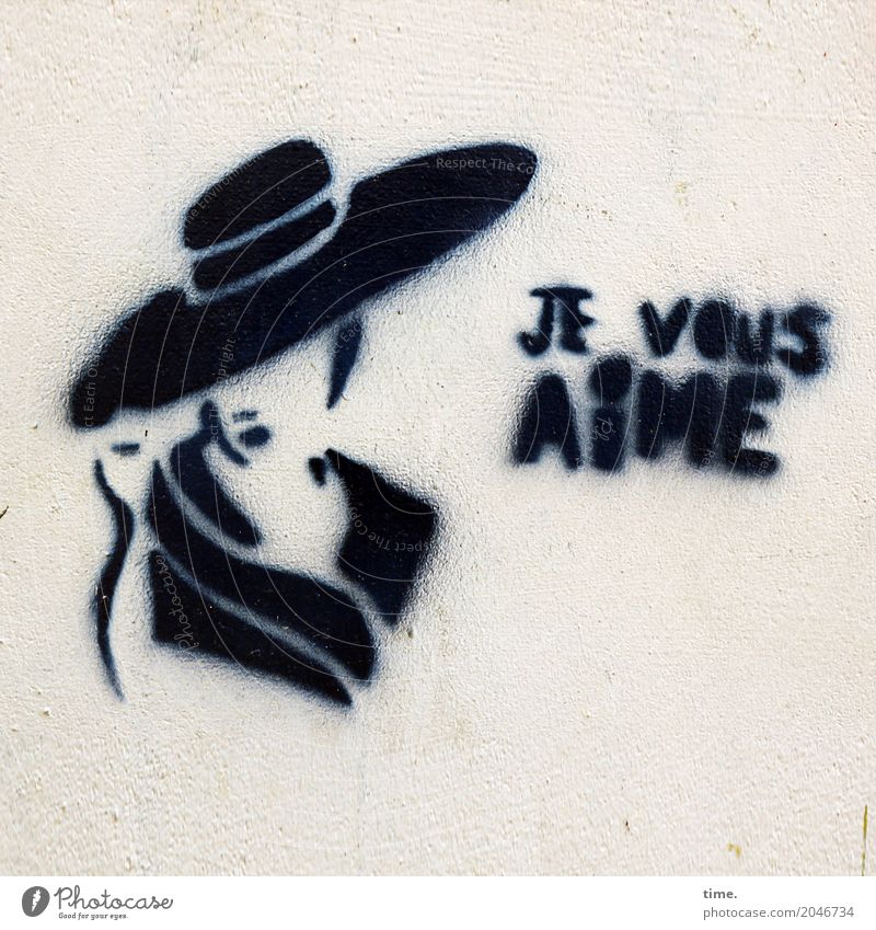 This can be cheerful. Feminine Woman Adults 1 Human being Art Painting and drawing (object) Wall (barrier) Wall (building) Hat Characters Graffiti Beautiful