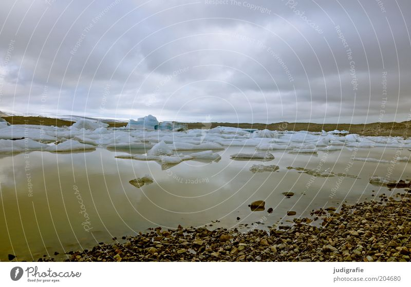 Nature Water Sky Calm Clouds Cold Lake Landscape Moody Environment Wet Climate Natural Exceptional Lakeside Iceland