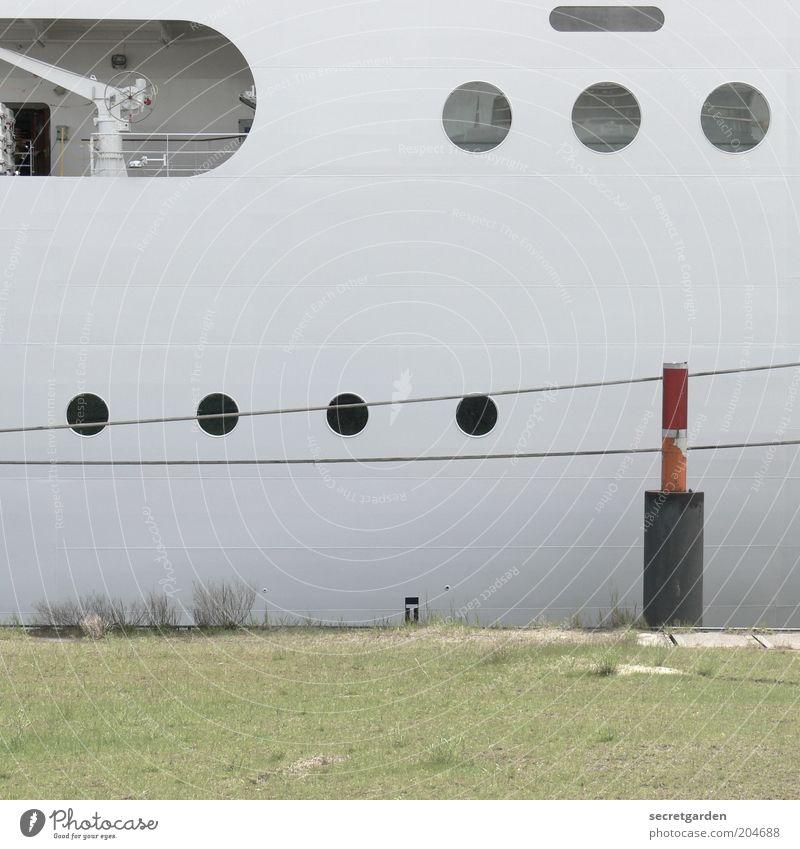 White Vacation & Travel Watercraft Rope Circle Round Harbour Steel Jetty Navigation Section of image Circular Cruise Minimalistic Maritime Bollard