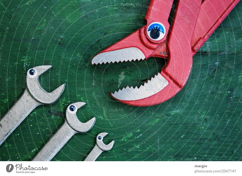 ...quiet now; say the pliers to 3 wrenches Kindergarten Profession Craftsperson Construction site Services Advertising Industry Craft (trade) Tool Claw