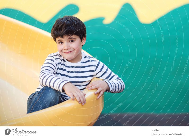 Child in playground Human being Lifestyle Love Funny Laughter Infancy Smiling To enjoy Adventure Joie de vivre (Vitality) Warm-heartedness Cool (slang) Toddler