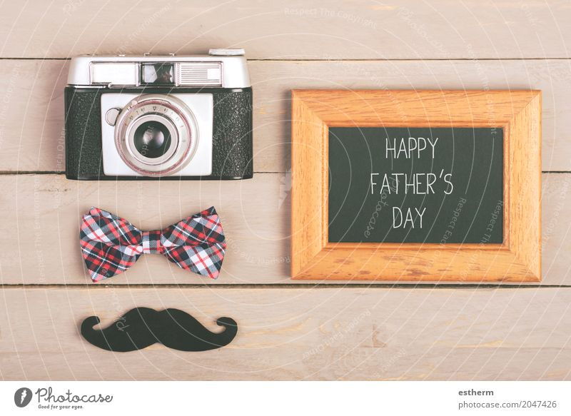 "Happy father`s day. Lifestyle Design Joy Feasts & Celebrations Camera Human being Parents Adults Father Tie Emotions Love Relationship ""accessory advertisement"
