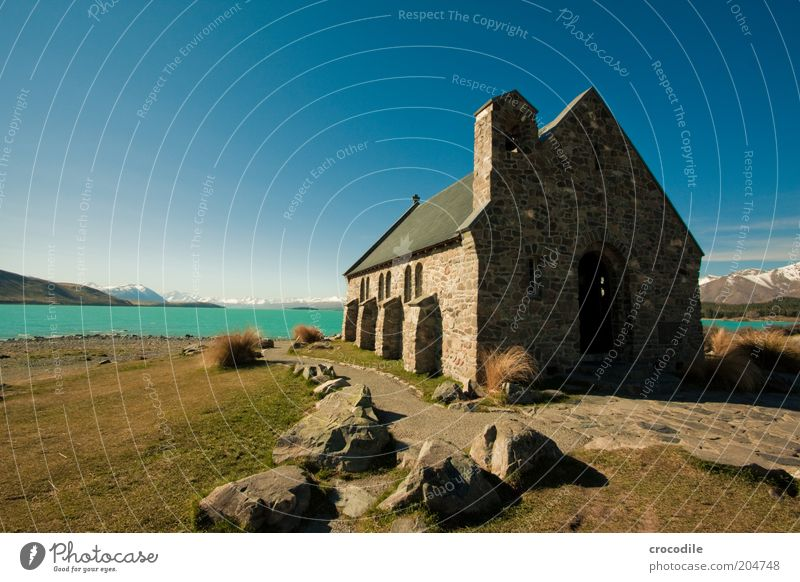 Sky Nature Ocean Clouds Environment Landscape Architecture Religion and faith Lake Island Church Alps Beautiful weather Lakeside Monument Landmark
