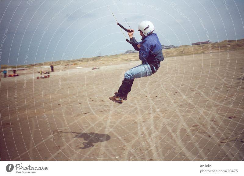 Human being Man Ocean Jump Lake Wind Flying Dragon Kiting Surfing
