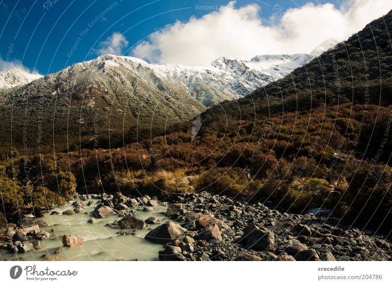 Sky Nature Vacation & Travel Calm Forest Mountain Landscape Environment Island Elements Exceptional Alps Travel photography Peak Beautiful weather New Zealand