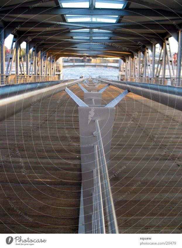 Landing bridges Hamburg Obscure Jetty Handrail Bridge Sun