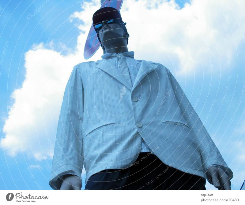 dress man Clouds Man Blue sky Perspective