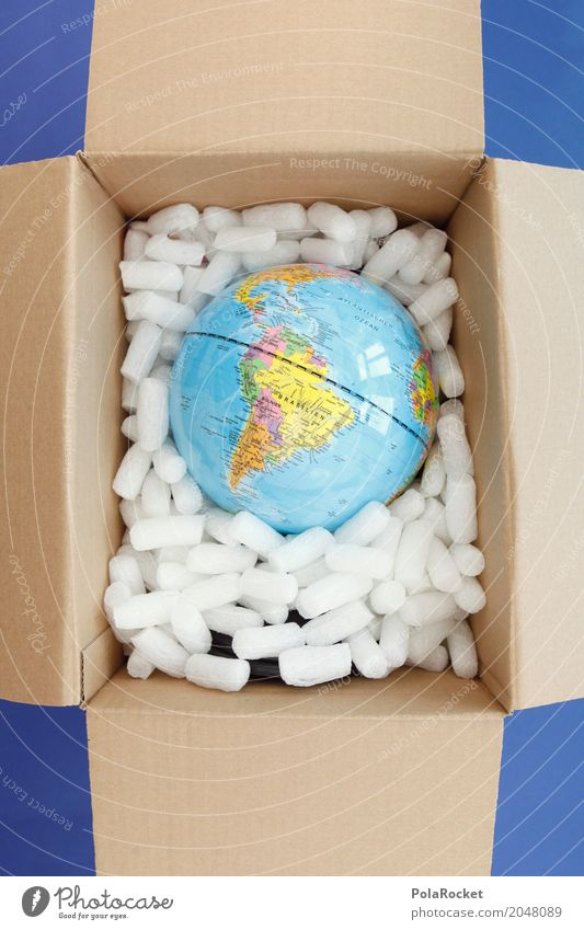 Art Earth Esthetic Globe Packaging Planet Packaged Delivery Protect Transmit Climate protection Throw away Packaging material Mail order selling