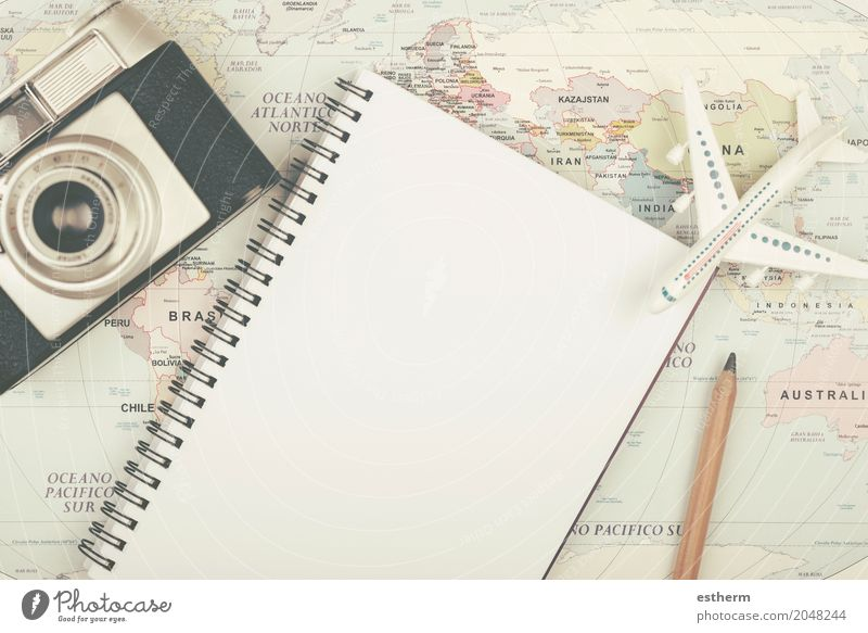 Planning vacation with map Lifestyle Vacation & Travel Tourism Trip Adventure Far-off places Freedom Sightseeing Summer vacation Camera Human being Transport