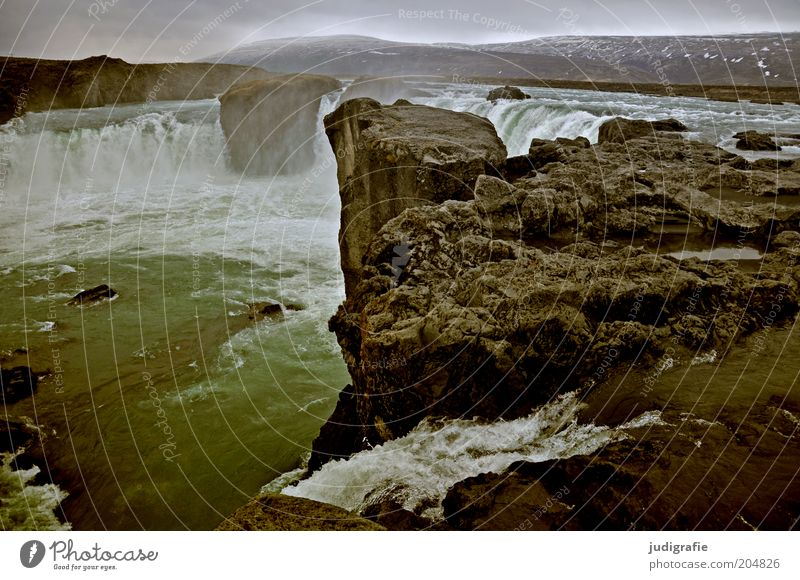 Iceland Environment Nature Landscape Elements Water Climate Rock Canyon Waterfall Exceptional Dark Fantastic Cold Wet Natural Wild Moody Loneliness Uniqueness