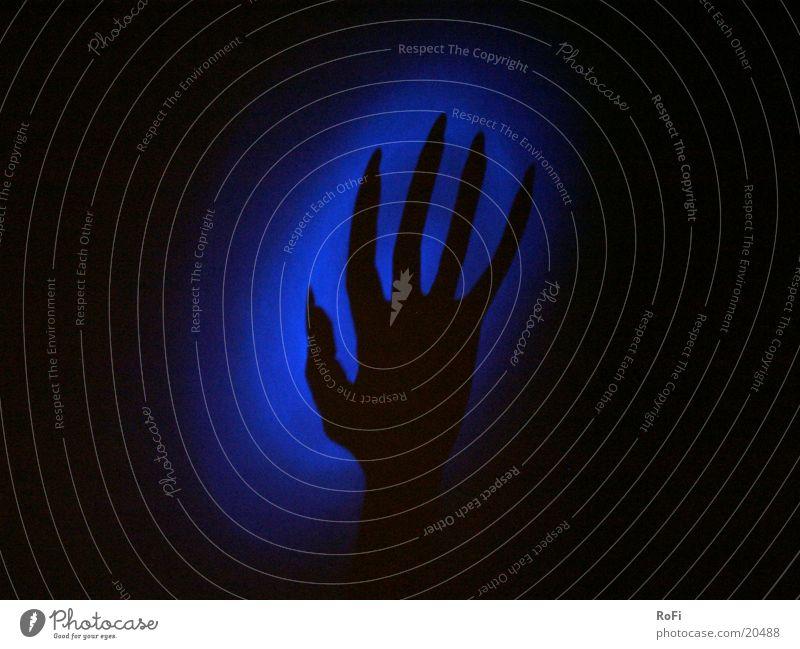 Man Hand Blue Dark