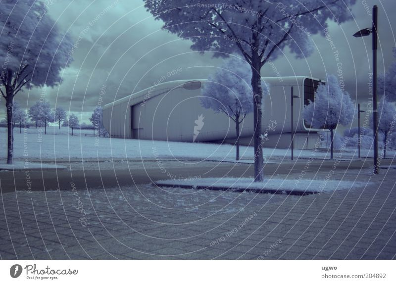White Calm Gray Building Metal Architecture Design Trip Esthetic Clean Container Exhibition Futurism Tourist Attraction