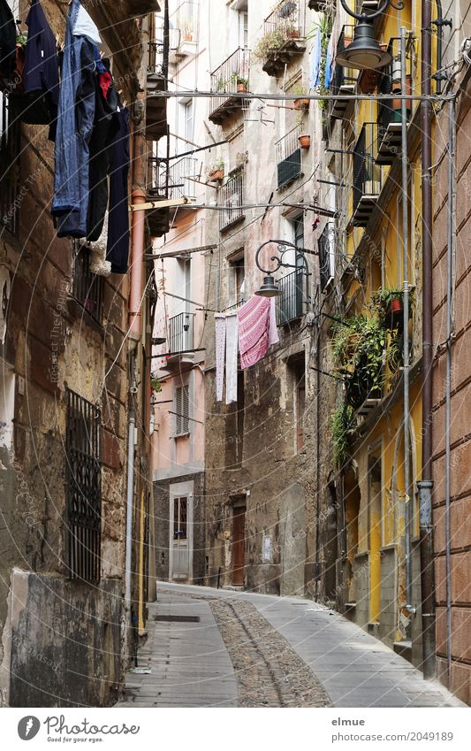washing day Vacation & Travel Living or residing gagliari Sardinia Capital city Downtown Old town Populated House (Residential Structure) Dream house