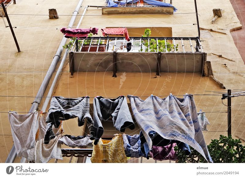 tumble dryers Living or residing gagliari Sardinia Capital city Building Architecture Apartment Building Wall (barrier) Wall (building) Facade Balcony