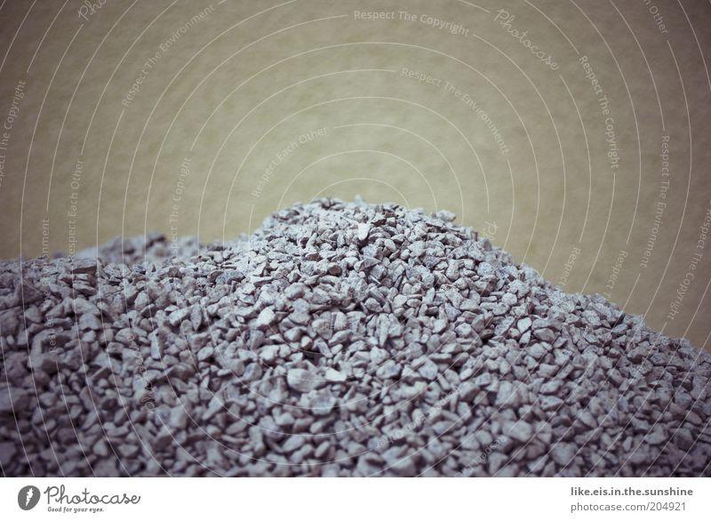 Blue Wall (building) Gray Stone Wall (barrier) Facade Many Material Gravel Heap Pebble Stony Kiesberg Graveled