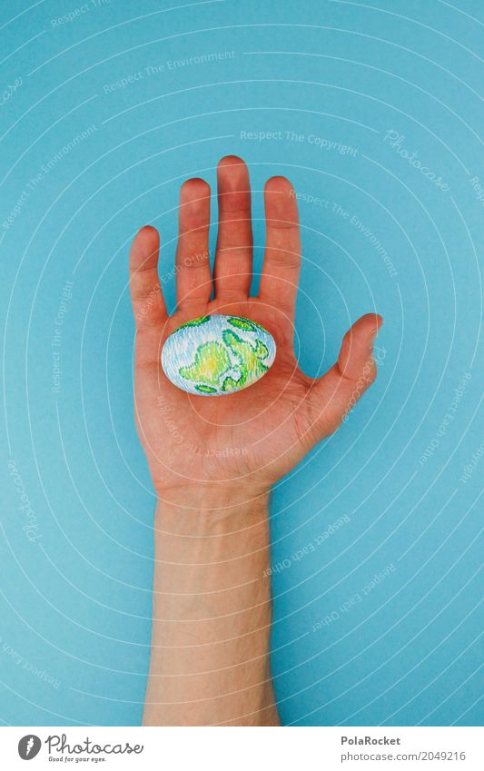 Hand Religion and faith Art Earth Design Esthetic Creativity Beginning Future Uniqueness Fingers Transience Belief To hold on Painting and drawing (object) Egg