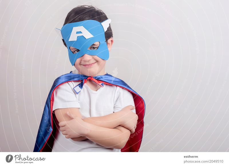 Child dressed as superhero Human being Joy Lifestyle Boy (child) Laughter Playing Happy Party Feasts & Celebrations Moody Infancy Birthday Smiling Happiness
