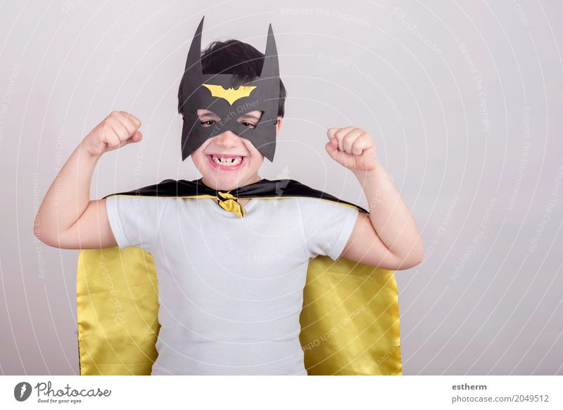 Child dressed as superhero Human being Joy Lifestyle Movement Boy (child) Laughter Happy Feasts & Celebrations Moody Infancy Birthday Smiling Adventure Energy