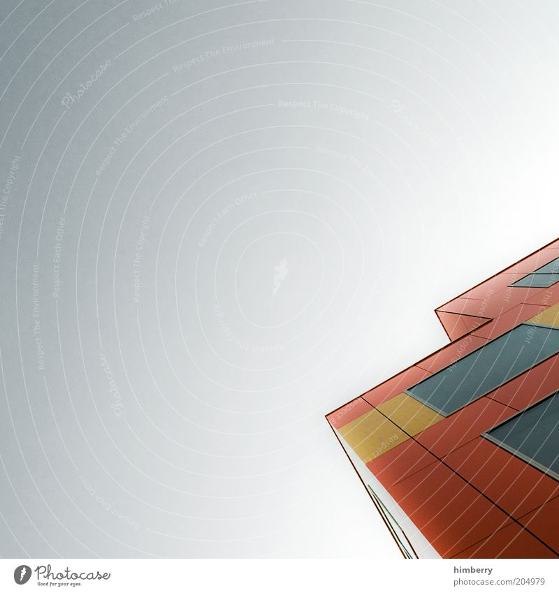 House (Residential Structure) Colour Wall (building) Window Wall (barrier) Building Architecture Design High-rise Tall Facade Modern Manmade structures Section of image Abstract