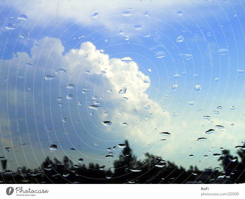 in case of rain through the windscreen Clouds Transport Rain Window pane Sky Weather