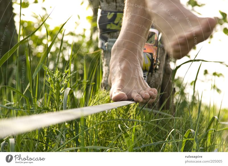 Man Nature Green Summer Vacation & Travel Meadow Sports Grass Movement Feet Healthy Dance Contentment Leisure and hobbies Rope Modern